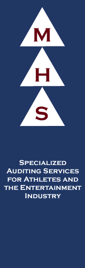 MHS Specialized Auditing Services for Athletes and the Entertainment Industry